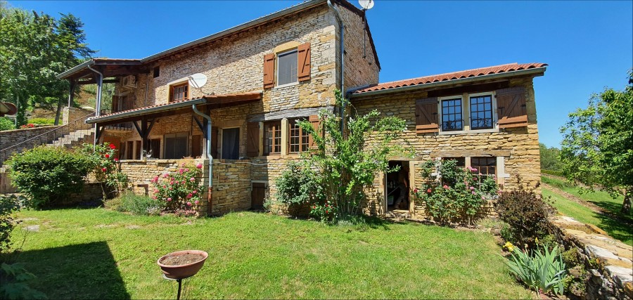 Close to Cluny, an old village house, restored