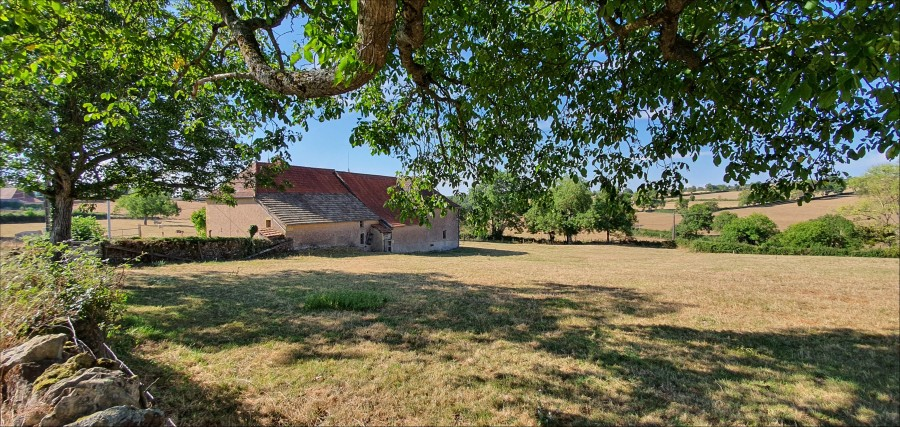 Farmhouse in need of restoration, South of Charolles, with three acres