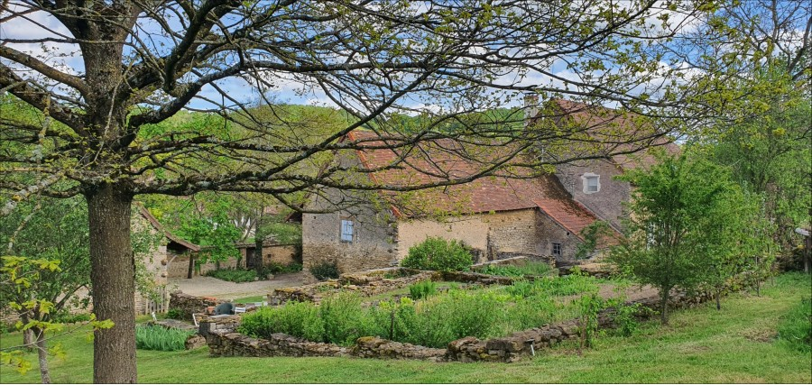 edge of village, old house, very nicely restored, in two acres of ground