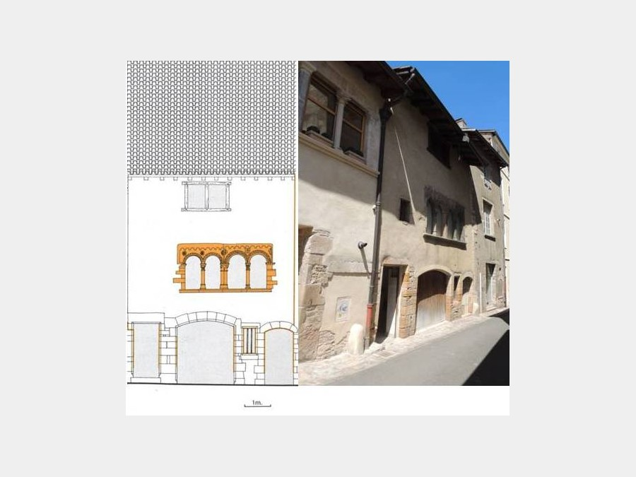 partly restored ancient house in the historic heart of Cluny